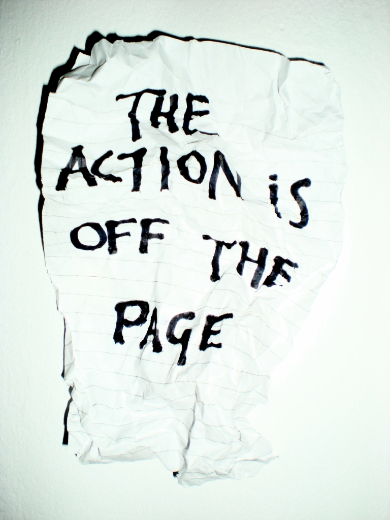 'The action is off the page', 2007